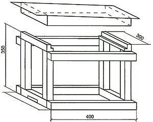 Схема сборки пчелиной ловушки